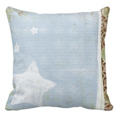 Throw Pillow Blue and Chocolate