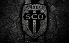 Lataa kuva Angers, logo, art, Liga 1, jalkapallo, Angers SCO, football club, Ligue 1, grunge, FC Angers