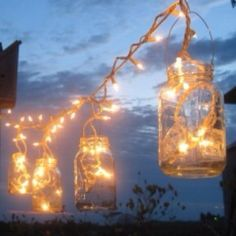 Trendy rustic track lighting. BACK FENCE  IDEA!!