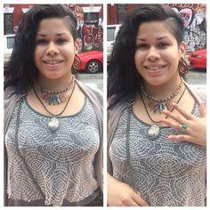Bushwick Babe rocking her new JR Jewelry  #JadedRoyalty #JadedJewels #gemstonejewelry #fashion #jewels #gemstonenecklace #Gems  #onyxring #greenonyx #onyx #jasper #rednetjasper #crystal #jewelry #trendy #fashions #ShwickMarket #Shwick #BushwickBabe #TrueGems #NYC #JewelMaven