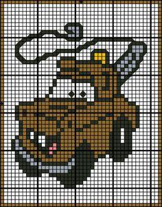 Cars - Mater Granny Square Crochet Pattern