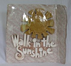 Vintage New NIP Walk in the Sunshine Abbey Press 1978 70's Decor Wall Hanging