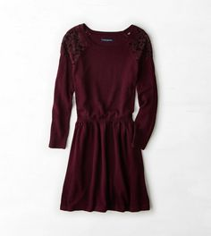 AEO Lace Shoulder Sweater Dress. I really want this dress! It looks super cute!