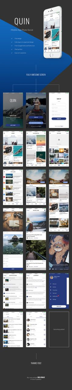 Buy QUIN – Mobile App Photo Social by framgia on GraphicRiver. Mobile Application Design, Mobile Web Design, Web Ui Design, Graphic Design, Gui Interface, User Interface Design, App Design Inspiration, Ui Web, Mobile Ui