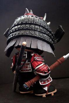 """Armored Samurai Munny"" | Artist: Emmanuel Perez Del Toro | Image 3 of 4"