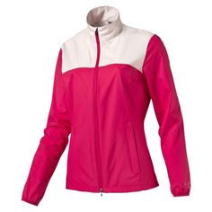 Women's Tech Wind Golf Jacket // Color: Rose Red