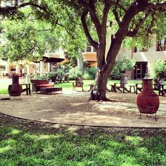 great patio, fun restaurant & bar // Four Seasons Hotel Austin in Austin, TX