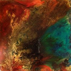 Newest creation in epoxy resin. Alcohol inks, powdered pigments, crushed glass/mica glitter.