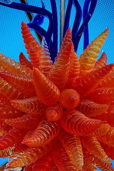 Chihuly Orange Chandelier - Desert Botanical Garden by Al_HikesAZ, via Flickr