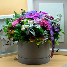 Bahar Concept  Kullanılan Malzemeler: Orkide Kandil, Gül, Ekvator Gülü, Krizantem, Astomerya, Sümbül ve Dekoratif Kutu