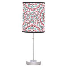 #home #lamps #decor - #Multicolor Graphic Pattern Table Lamp