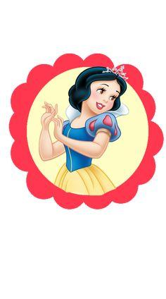 Forminha para decoração da mesa do bolo branca de neve disney Snow White Birthday, Happy Birthday Flower, Birthday Tags, All Disney Princesses, Disney Princess Drawings, Princess Cartoon, Disney Princess Snow White, Snow White Disney, Snow White Cartoon