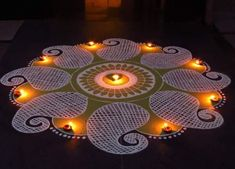 Rangoli Design Ideas & Images For Diwali & Happy New Year Here you will get Happy Deepavali Rangoli Design idea to draw. Rangoli Patterns, Rangoli Kolam Designs, Rangoli Designs Images, Rangoli Ideas, Beautiful Rangoli Designs, Happy Diwali Rangoli, Diwali 2018, Colored Sand, Full Hd Wallpaper
