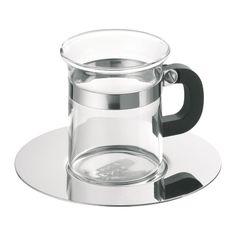 Bodum Classic Set 4 tasses + soucoupes inox
