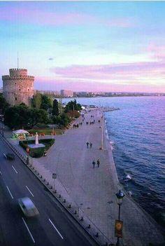Thessaloniki Macedonia Greece, Athens Greece, Beautiful Islands, Beautiful Places, Places Around The World, Around The Worlds, Greek Beauty, Thessaloniki, Greece Travel