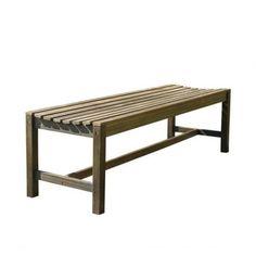 Dropship Vendor Group V1613 5-Foot Backless Outdoor Hand-Scraped Hardwood Garden Bench