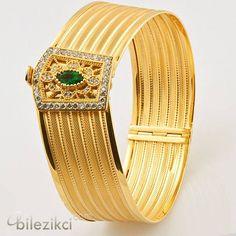 ♔ Middle East Jewellery - Bracelets & Belts: Trabzon-Hasir-Kelepce-Altin-Bilezik