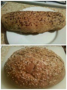 Домашний ПП хлеб  400 мл кефира,2 яица,500 гр муки,муку беру 50/50 пшеничная белая и ржаная или любая другая правильная мука 1 ч л соли и соды,а дальше на ваш выбор.Я добавляю гранулированный чеснок,семена горчицы и т д
