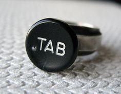 """love this """"tab"""" typewriter ring on #threadflip!"""