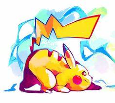 Pikachu, text; Super Smash Bros