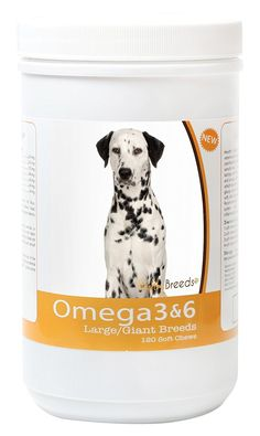 Healthy Breeds 3088-dalm-001 Omega 3 and 6 Soft Chews for Dalmatian, 120 Count *** Click image for more details. (This is an affiliate link and I receive a commission for the sales) #DogSupplementsandVitamins