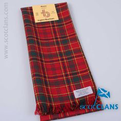 Pure wool scarf in the Munro Modern tartan - from ScotClans