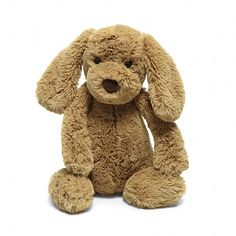 Bashful Toffee Puppy Medium from Jellycat Stuffed Animals, stuffed dog, plush stuffed animals, plush toys, stuffed puppy Cute Little Puppies, Small Puppies, Thing 1, Jellycat, Can Dogs Eat, Guide Dog, Pet Puppy, Pet Toys, Baby Toys