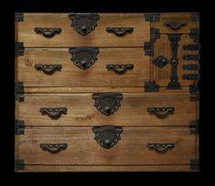 Antique tansu. kiri wood clothing chest. Yamagata, Japan. By Shibui. Fine Asian Wares and Antiques.