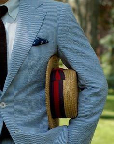 Seersucker Suit- Great fabric for men to wear during the summer