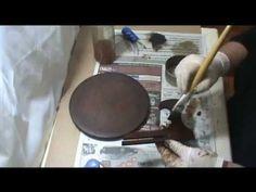 MDF - PÁTINA MADEIRA ANTIGA - COM LU HERINGER Decoupage Vintage, Master Class, Handmade, Diy, Creative Ideas, Wooden Crafts, Diy And Crafts, Painting Furniture, Wood Paintings