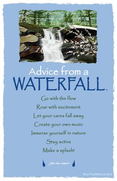 Advice from a Waterfall- Postcard- Your True Nature