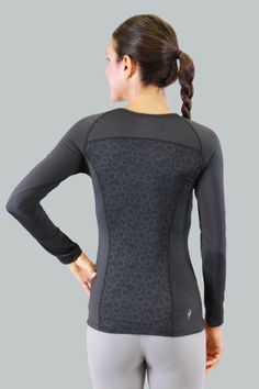 Cozy Orange Aries Long Sleeve Yoga Top Raven Black