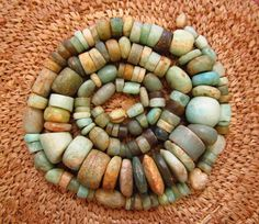 Anicent Amazonite Beads by lostcitiesbeads on Etsy