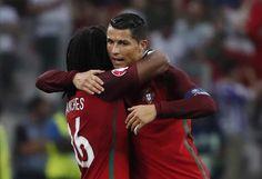 Renato Sanches and Cristiano Ronaldo #EURO2016