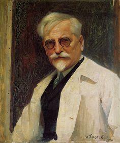 Portrait of the artist, Alphonse Mucha by Tasev - 1926