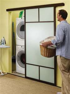 Laundry Room Doors - good idea when low on space