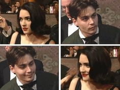 Johnny Depp and Winona Ryder the first time they met after their break-up.
