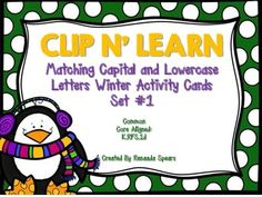Clip N' Learn Winter Activity Cards Set #1