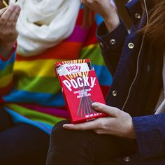 Chocolate Pocky sticks are the best afternoon snack!