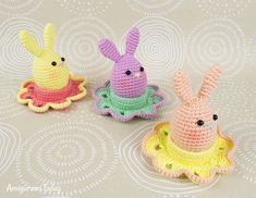 Easter bunny egg and flower egg cozy - Free crochet patterns by Amigurumi Today