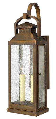 "Hinkley Lighting 1184SN Sienna 21.75"" Height 2 Light Lantern Outdoor Wall Sconce from the Revere Collection - LightingDirect.com"