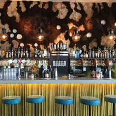 I love the textile art behind the bar at Louie louie ✨ Isn't it cool? #amsterdam❤️