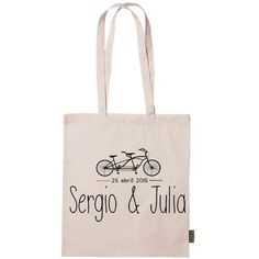 bolsa de tela personalizada. Ride with your love