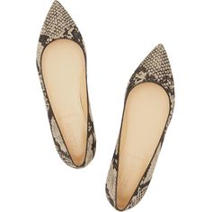 J.Crew Viv python-print canvas flats (7 385 UAH) ❤ liked on Polyvore featuring shoes, flats, black canvas shoes, pointed toe flats, j crew flats, slip-on shoes and snake print flats