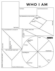 A fun graphic organizer for students to share lots of information about themselves. A great start of school year activity to be displayed in your classroom. Or simply have students create it so you can collect it and learn about them. 1st Day Of School, Beginning Of The School Year, Middle School, Back To School, School School, School Teacher, School Stuff, Art Classroom, School Classroom