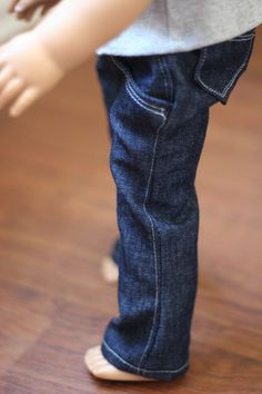 AG doll jeans pattern....have Dylan cut out the patterns in one of her workboxes