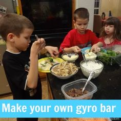 Make your own gyro bar from @Adventures in Mommydom part of Around the Worlds in 12 Dishes Series {Greece}
