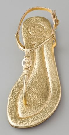 Tory Burch Emmy Sandal I just bought for the wedding! Simple, chic and I won't eat it walking down the aisle..perfect!