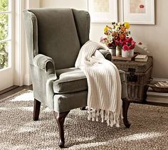 Gramercy Wingback Chair   Darn you, Pottarybarn and your beautiful things!  This is what I want, Lisa!