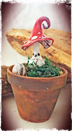 Poisonous mushroom Handmade from cold porcelain clay.
